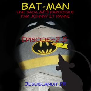 Pochette de bat-man avec la silhouette d'un rat
